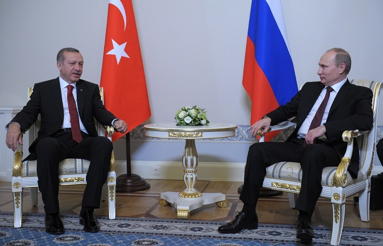 Turkish PM Recep Tayyip Erdogan and Russian President Vladimir Putin