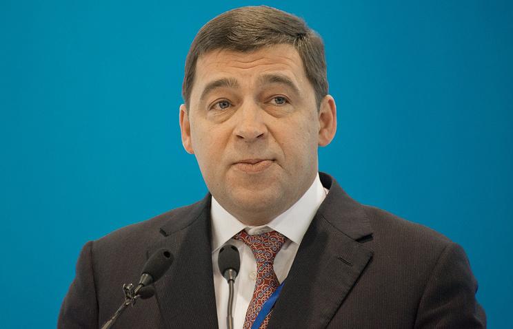 Губернатор Свердловской области Евгений Куйвашев во время выступления на форуме Россия-Казахстан