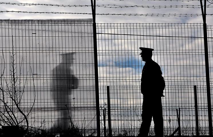 Румынские полицейские на границе