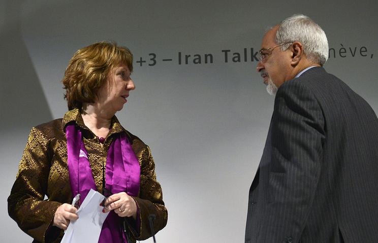 Верховный представитель ЕС по иностранным делам и политике безопасности Кэтрин Эштон и глава МИД ИРИ Джавад Зариф