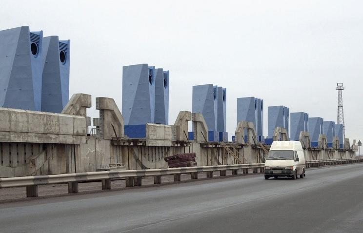 Вид на комплекс защитных сооружений