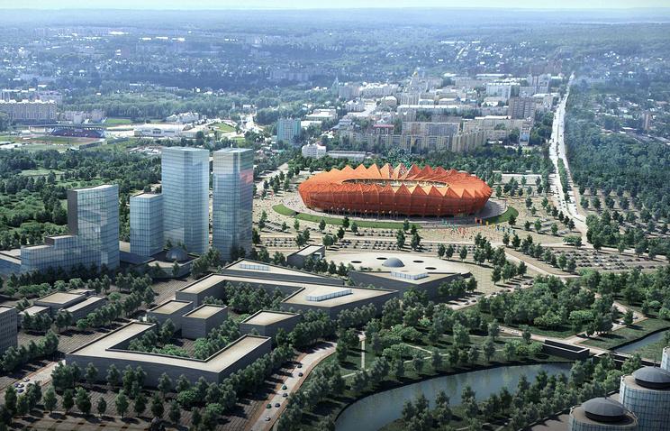 Макет стадиона в Саранске