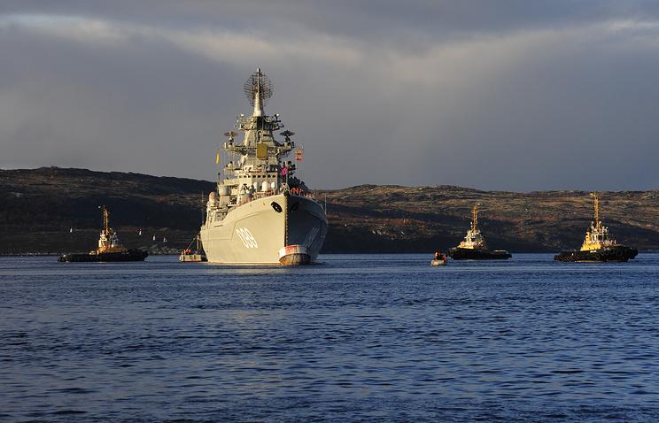 Главная база Северного флота в Североморске