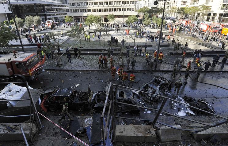 Место вызрыва 27 декабря 2013, Бейрут