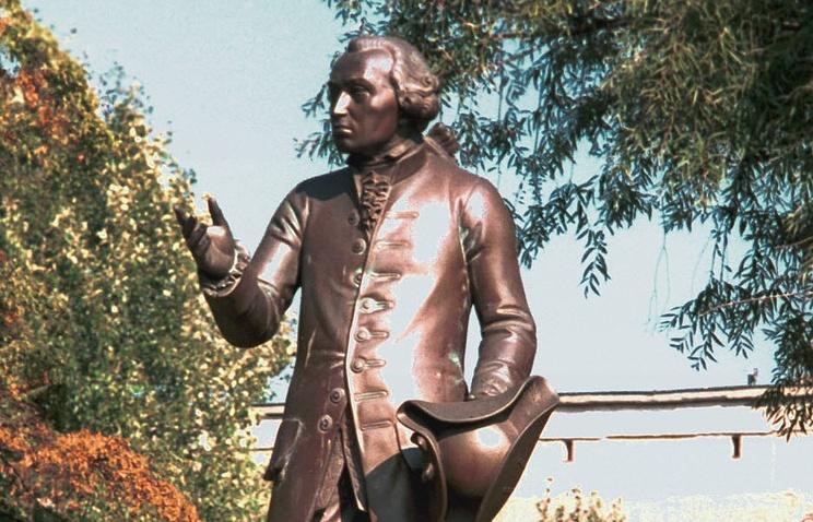 Памятник Иммануилу Канту в Калининграде. Фрагмент
