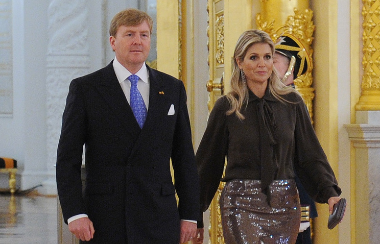 Король Нидерландов Виллем-Александр и королева Максима