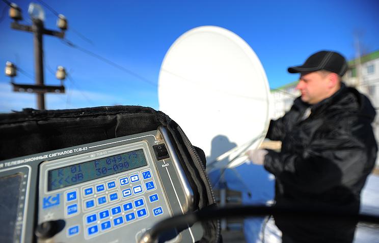Работа специалистов по монтажу и обслуживанию антенн