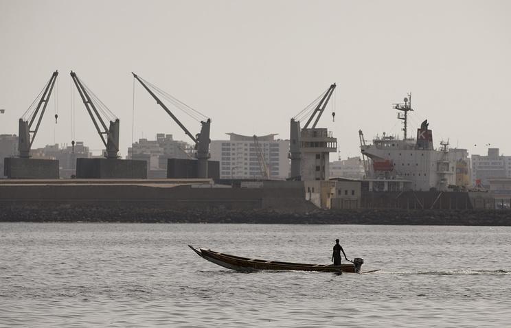 Порт Дакар в Сенегале