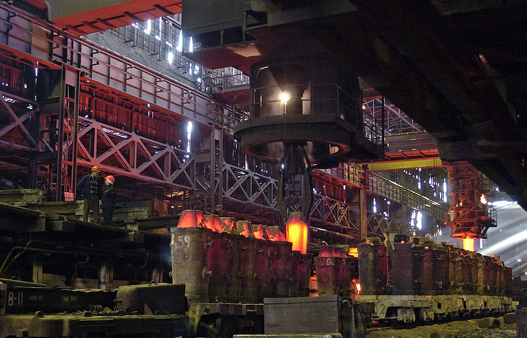 Работа Златоустовского металлургического завода