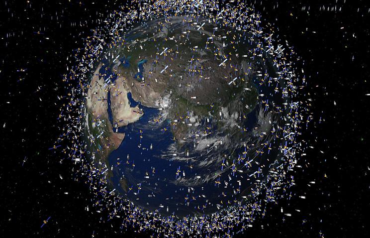 Изображение космического мусора