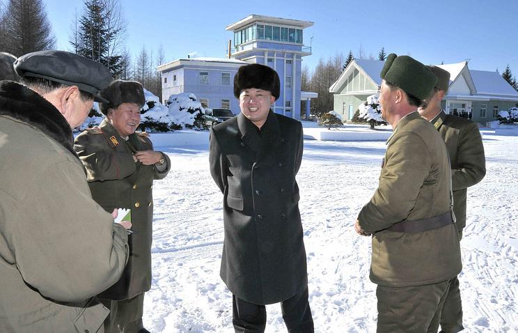 Ким Чен Ын в военной части Корейской народной армии