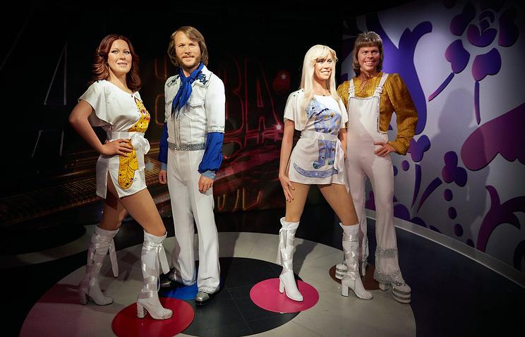 Восковые фигуры участников группы ABBA