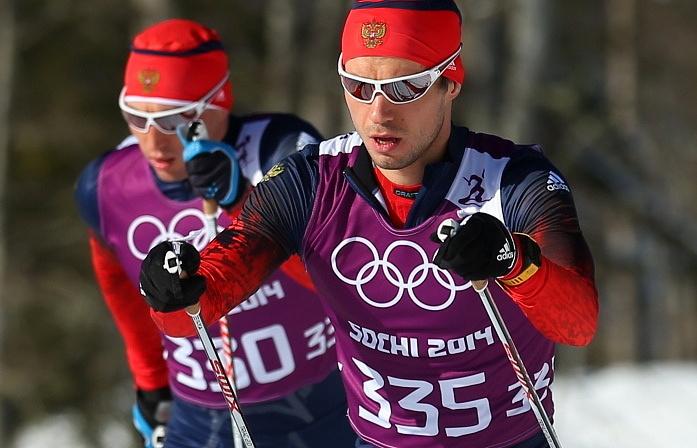Александр Легков (на переднем плане)