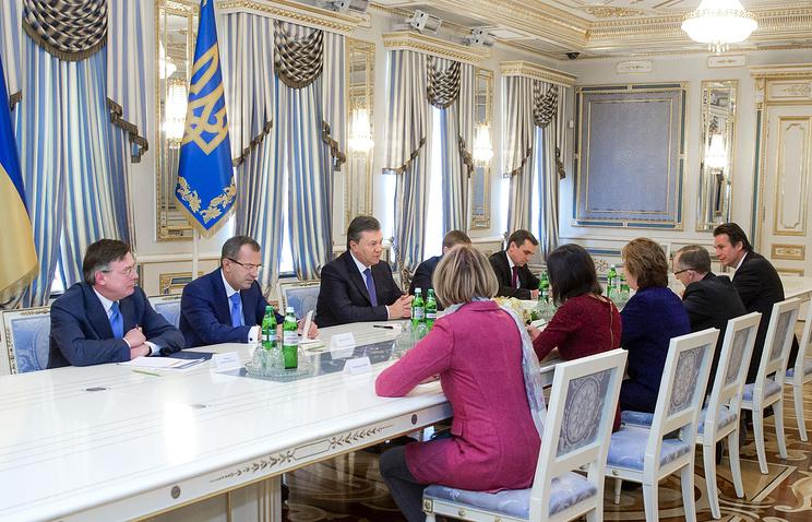 Встреча Кэтрин Эштон с президентом Украины Виктором Януковичем в Киеве