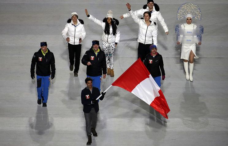Карселен был знаменосцем перуанской команды на церемонии открытия