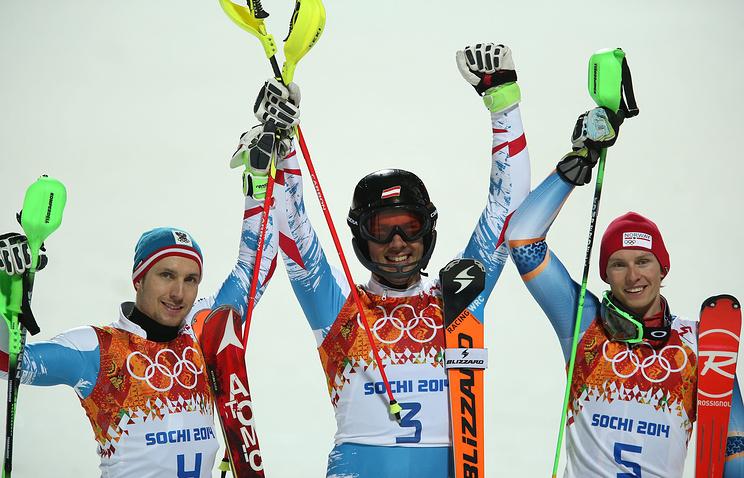 Марсель Хиршер, Марио Матт и Хенрик Кристофферсен (слева направо)