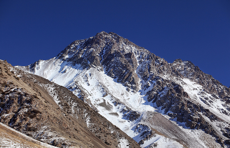 Одна из горных вершин Тянь-Шаня