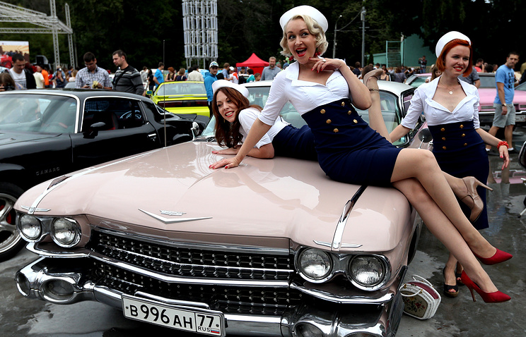 """На фестивале """"Ретро-Фест"""" в парке """"Сокольники"""""""