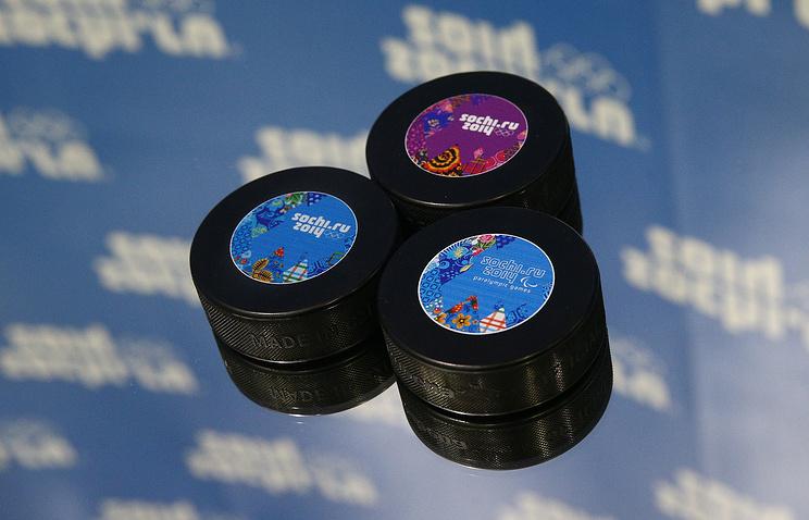 Официальные шайбы Олимпиады в Сочи