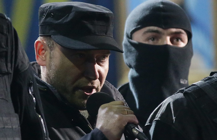 """Лидер """"Правого сектора"""" Дмитрий Ярош (слева)"""