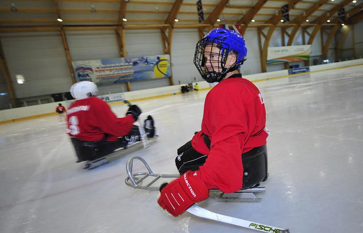 Тренировка по следж-хоккею