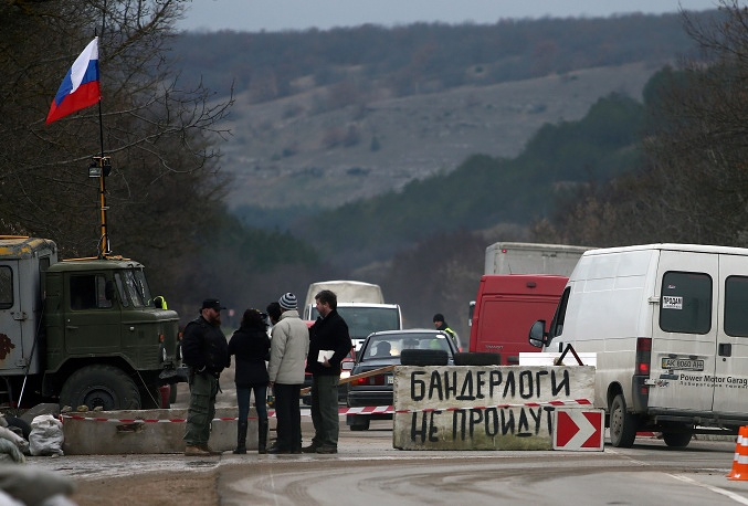 Блокпосты на подъезде к Севастополю