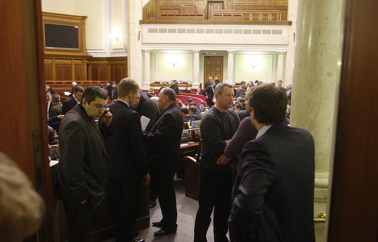 Перед началом заседания депутатов Верховной рады