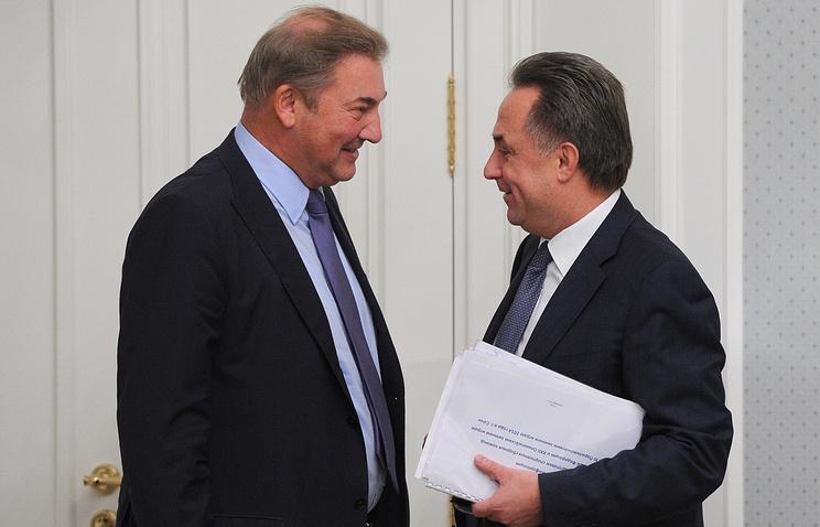 Президент ФХР Владислав Третьяк и Виталий Мутко