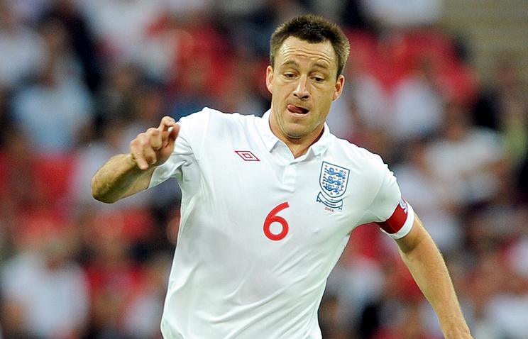 Джон Терри в составе сборной Англии
