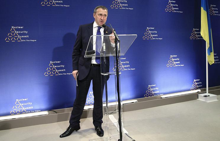Исполняющий обязанности министра иностранных дел Украины Андрей Дещица на саммите по ядерной безопасности в Гааге