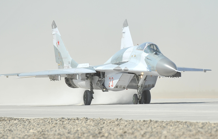Истребитель МиГ-29СМТ на территории летно-испытательного центра