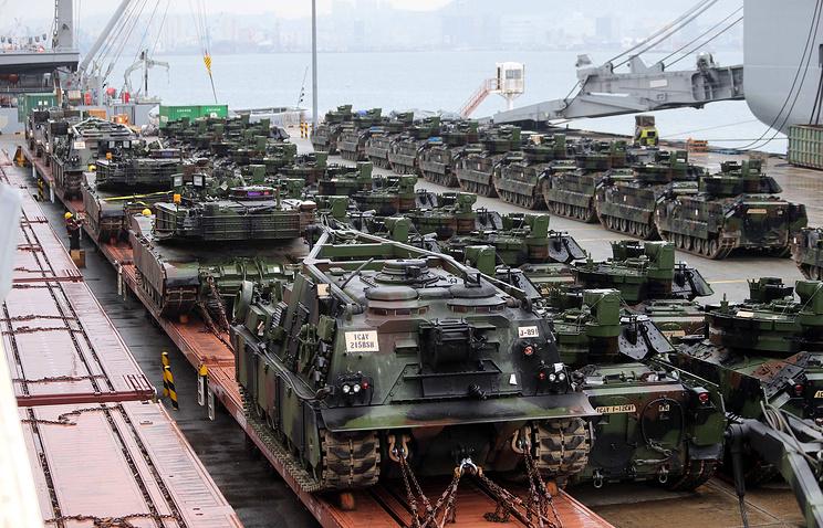 Американские танки в Южной Корее