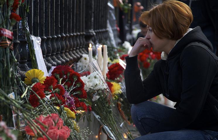 Посольство Украины в Москве. Возложение цветов в память о погибших в Одессе