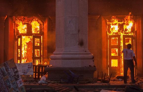 Пожар в здании областного совета профсоюзов, Одесса, 2 мая 2014 года
