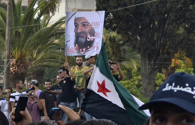 Акция в поддержку Усамы бен Ладена
