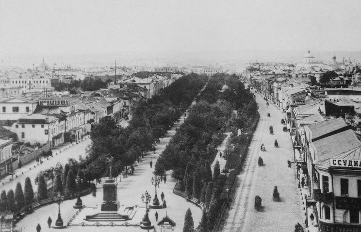 Тверской бульвар в 1888 году