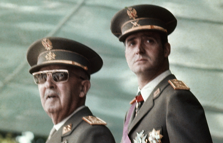Председатель правительства Испании Франсиско Франко и Хуан Карлос, 1973 год