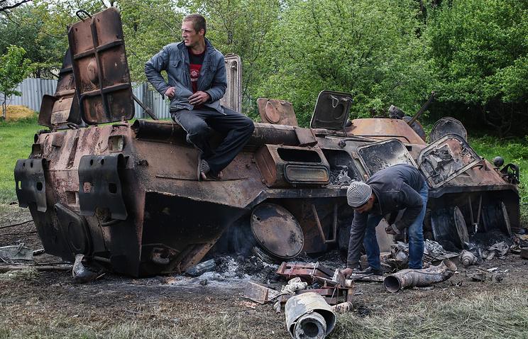 Последствия вооруженных столкновений в Донецкой области