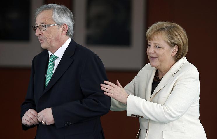 Жан-Клод Юнкер и Ангела Меркель