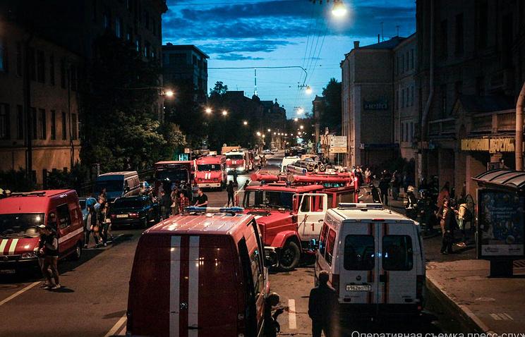 Пожар в хостеле Петербурга