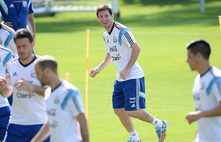 Тренировка футболистов сборной Аргентины
