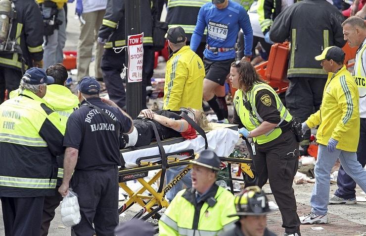 На месте теракта в Бостоне
