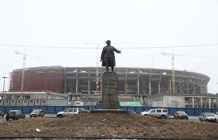 """Строительство футбольного стадиона """"Зенит-Арена"""""""