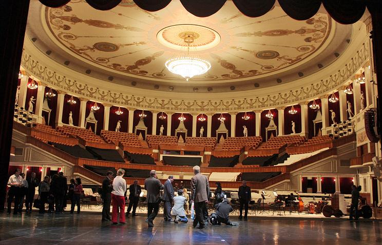 Репетиция в Новосибирском театре оперы и балета