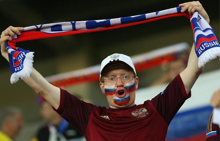 Болельщик сборной России по футболу