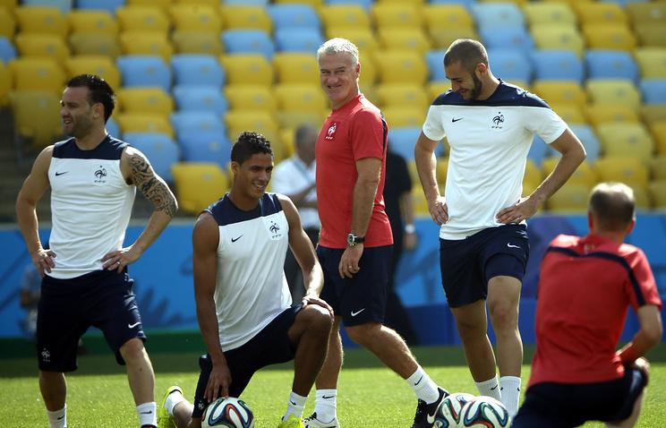 Тренировка сборной Франции