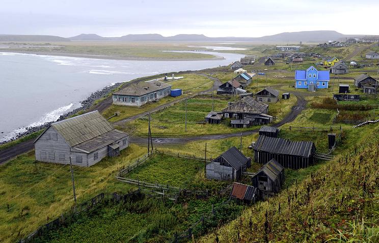 Село Никольское на острове Беринга