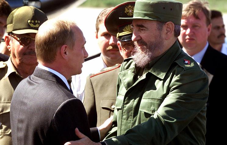 Владимир Путин и Фидель Кастро. Куба 17 декабря 2000 года