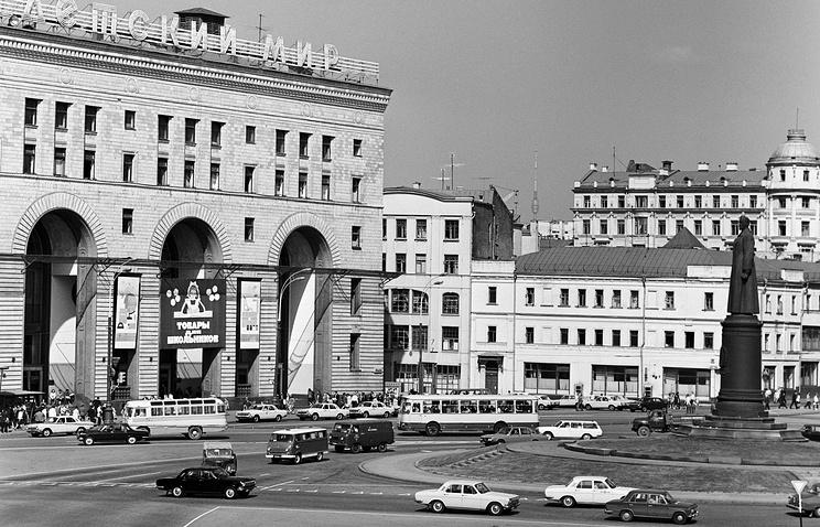 Памятник Дзержинскому в Москве. 1977 год