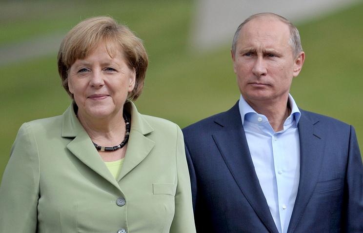 Ангела Меркель и Владимир Путин, 2013 год